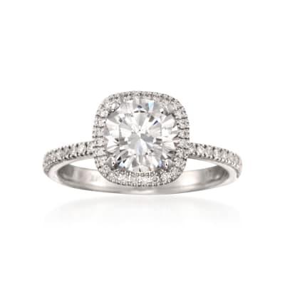 Simon G. .30 ct. t.w. Diamond Engagement Ring Setting in 18kt White Gold