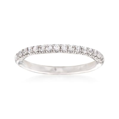 Gabriel Designs .25 ct. t.w. Diamond Wedding Ring in 14kt White Gold