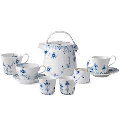 "Royal Copenhagen ""Blue Elements"" Tea Service"