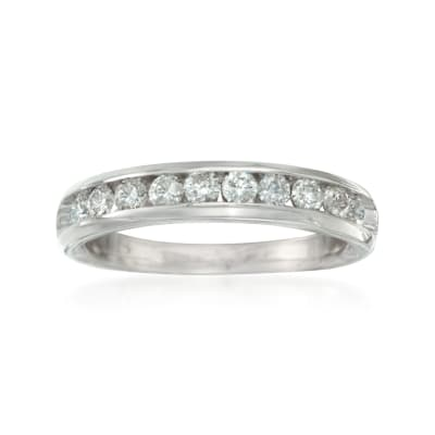 .50 ct. t.w. Diamond Wedding Ring in 14kt White Gold