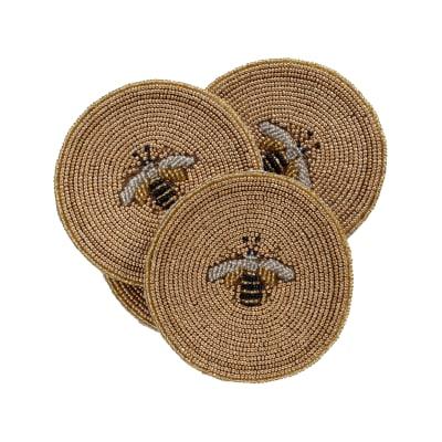 Joanna Buchanan Set of 4 Stripey Bee Coasters
