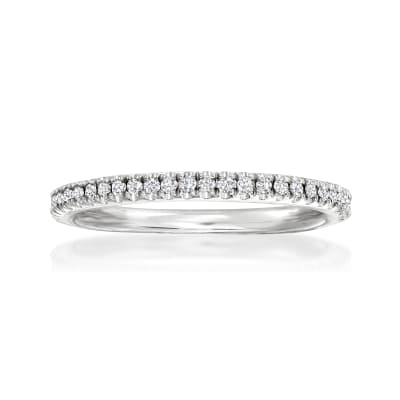 Henri Daussi .15 ct. t.w. Diamond Wedding Ring in 14kt White Gold