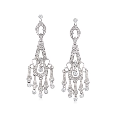 .50 ct. t.w. Diamond Chandelier Earrings in Sterling Silver