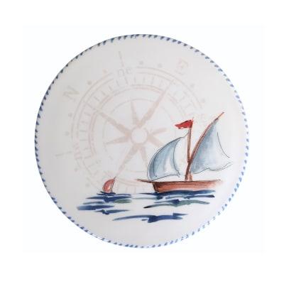 "Abbiamo Tutto ""Sailboat"" Ceramic Trivet/Cheeseboard from Italy"