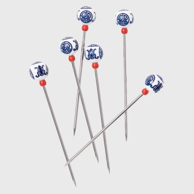 Joanna Buchanan Set of 6 Chinoiserie Cocktail Picks