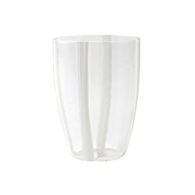 "Vietri ""Stripe White"" Tall Tumbler from Italy"