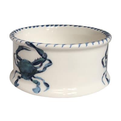 """Abbiamo Tutto """"Blue Crab"""" Ceramic Pet Bowl from Italy"""