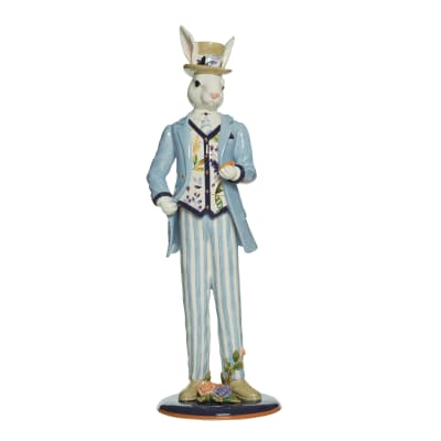 "Fitz and Floyd ""Floral Splash"" Male Rabbit Figurine"