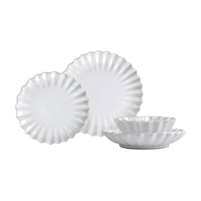 "Vietri ""Incanto Pleated"" 4-pc. Place Setting from Italy"
