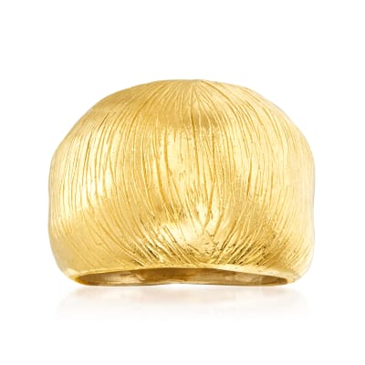 18kt Gold Over Sterling Textured Dome Ring