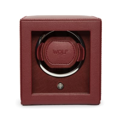 "Wolf ""Cub"" Bordeaux Leather Watch Winder"