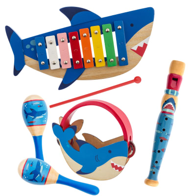Child's 6-pc. Shark Music Set by Stephen Joseph