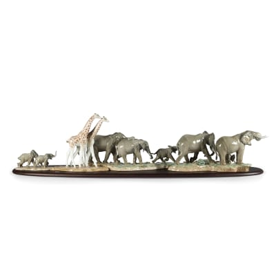 "Lladro ""African Savannah"" Porcelain Figurine Set"