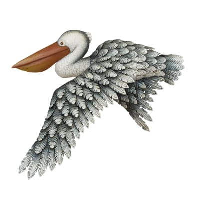 Regal Metal Pelican Wall Decor