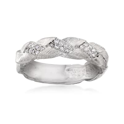 .12 ct. t.w. Diamond Braid Ring in 14kt White Gold