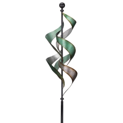 Regal Vertical Waterfall Metal Outdoor Wind Spinner