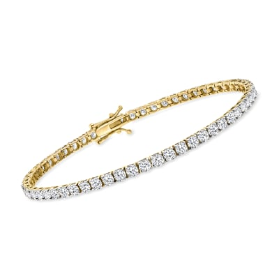 6.00 ct. t.w. Diamond Tennis Bracelet in 14kt Yellow Gold