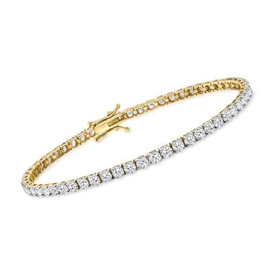 6.00 ct. t.w. Diamond Tennis Bracelet in 14kt Yellow Gold