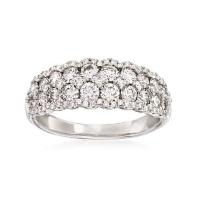1.30 ct. t.w. Diamond Cluster Ring in 14kt White Gold