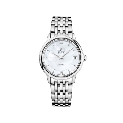 Omega De Ville Prestige Women's 32.7mm Mother-Of-Pearl Watch in Stainless Steel