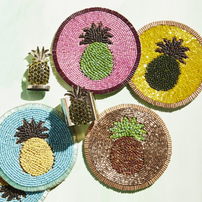 Joanna Buchanan Set of 4 Pineapple Coasters