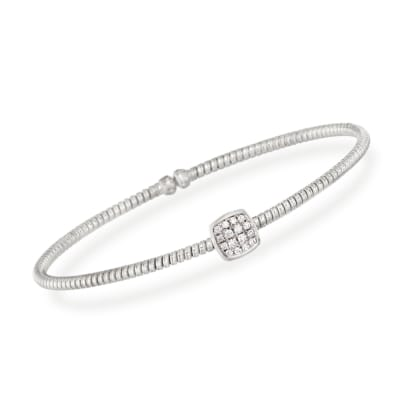 .16 ct. t.w. Diamond Square Bracelet in 18kt White Gold
