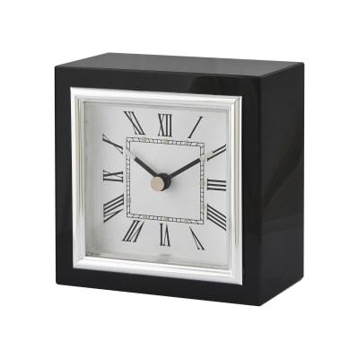 Tabletop Square Black Clock