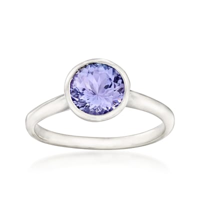 1.50 Carat Tanzanite Ring in Sterling Silver