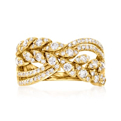 1.00 ct. t.w. Diamond Openwork Ring in 14kt Yellow Gold