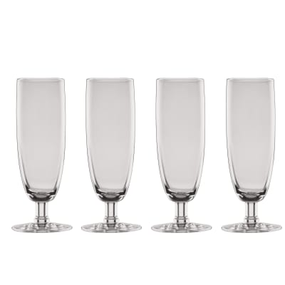 "Lenox ""Valencia"" Set of 4 Smoke Flute Glasses"