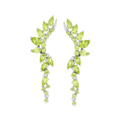 5.40 ct. t.w. Peridot Drop Earrings in Sterling Silver