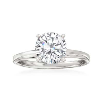 2.00 Carat Diamond Solitaire Ring in 14kt White Gold