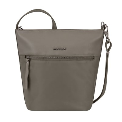 """Anti-Theft """"Addison"""" Bucket-Style Brown Tote Bag"""