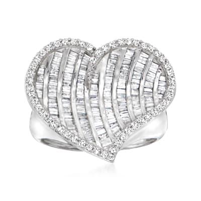 1.00 ct. t.w. Diamond Heart Ring in Sterling Silver