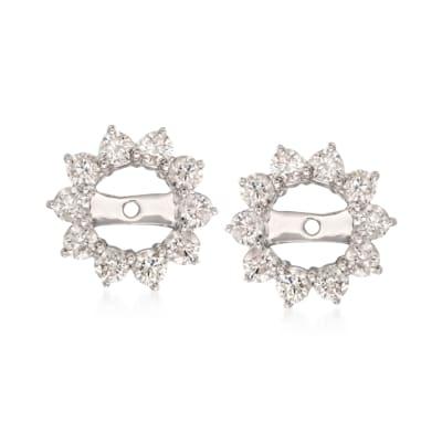 1.00 ct. t.w. Diamond Earring Jackets in 14kt White Gold
