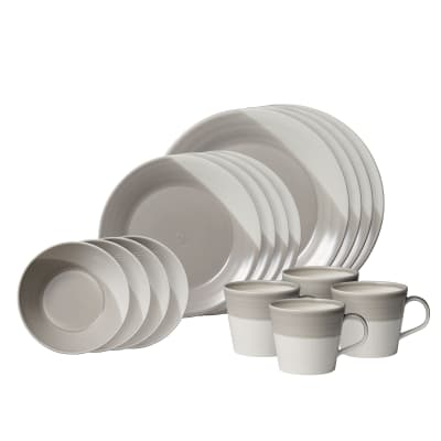 "Royal Doulton ""Bowls of Plenty"" 16-pc. Gray Dinnerware Set"