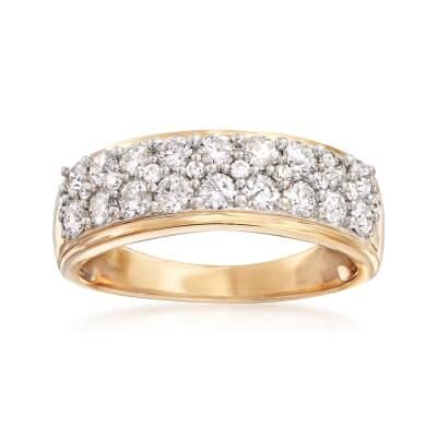 1.00 ct. t.w. Diamond Multi-Row Ring in 14kt Yellow Gold