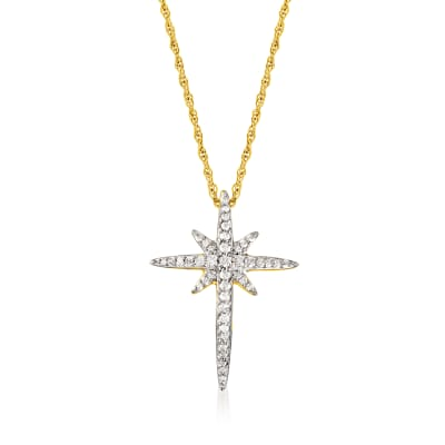.50 ct. t.w. Diamond Star Pendant Necklace in 18kt Gold Over Sterling