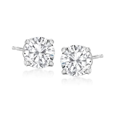 1.50 ct. t.w. Diamond Stud Earrings in 14kt White Gold