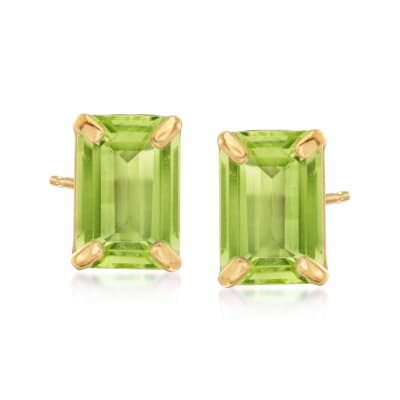 1.90 ct. t.w. Peridot Stud Earrings in 14kt Yellow Gold