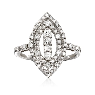 .50 ct. t.w. Diamond Marquise-Shape Ring in Sterling Silver