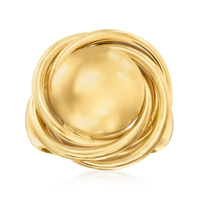 Italian 18kt Gold Over Sterling Knot Ring