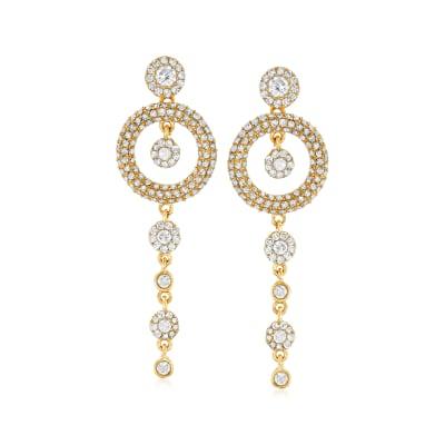 1.00 ct. t.w. Diamond Drop Earrings in 14kt Yellow Gold