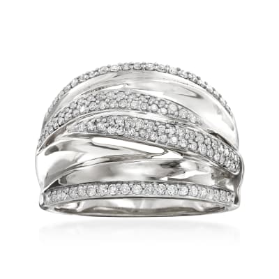 .50 ct. t.w. Pave Diamond Highway Ring in Sterling Silver
