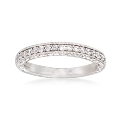 Gabriel Designs .37 ct. t.w. Diamond Wedding Ring in 14kt White Gold