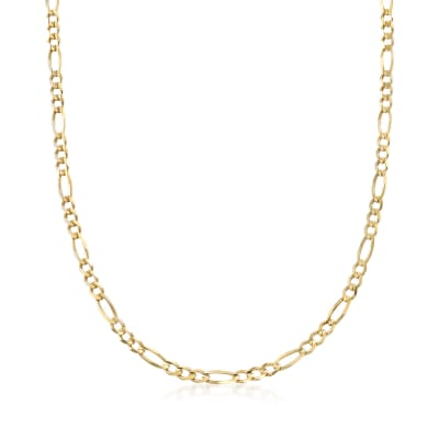 Men's 4.5mm 14kt Yellow Gold Figaro-Link Chain Necklace