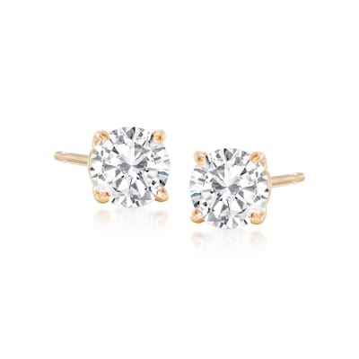 .75 ct. t.w. Diamond Stud Earrings in 14kt Yellow Gold