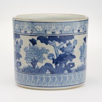 Blue and White Porcelain Garden Planter Vase