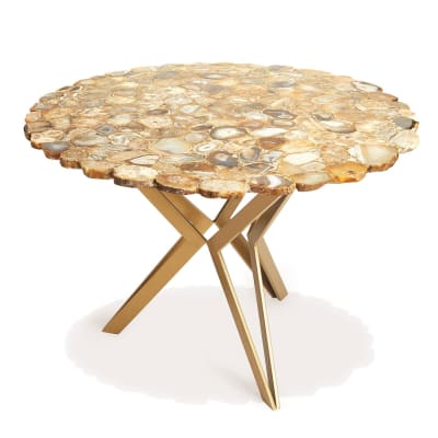 Natural Agate Round Table