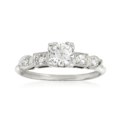 C. 1950 Vintage .65 ct. t.w. Diamond Ring in Platinum